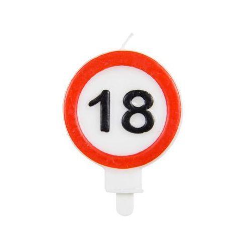 Folat Świeczka na 18-tke znak zakazu - 1 szt.