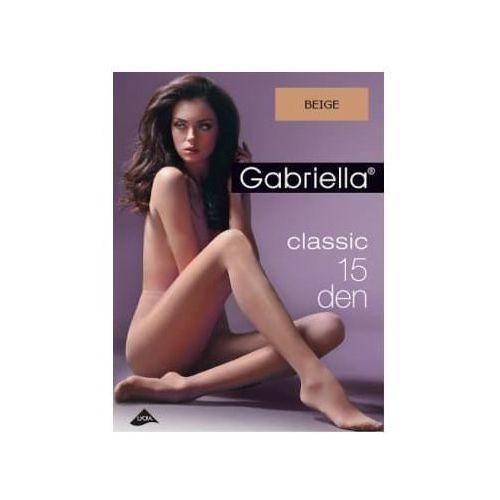 Rajstopy classic 15 den, rozmiar 4, kolor beige marki Gabriella