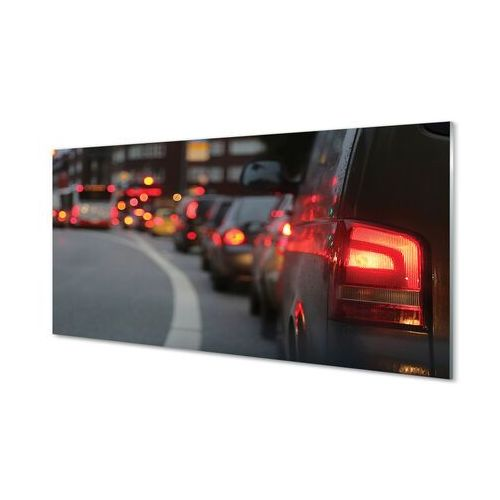 Obrazy na szkle Auta korek światła ulica miasto