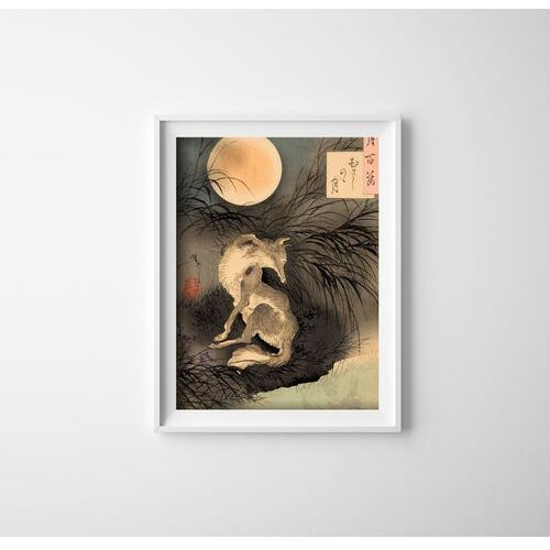 Plakat vintage plakat vintage księżyc na równinie musashi tsukioka yoshitoshi marki Vintageposteria.pl