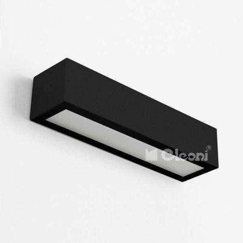 Kinkiet lampa ścienna nekla 50 ic102f 1152k2.116 metalowa oprawa minimalistyczna prostokątna czarna marki Cleoni