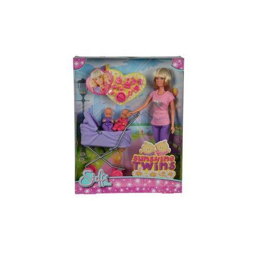 Simba Steffi lalka z głębokim wózkiem, fiolet. (5902002994835)