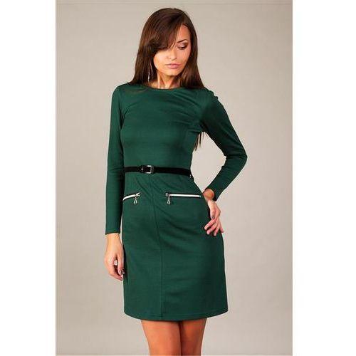 Sukienka model angela dark green marki Vera fashion