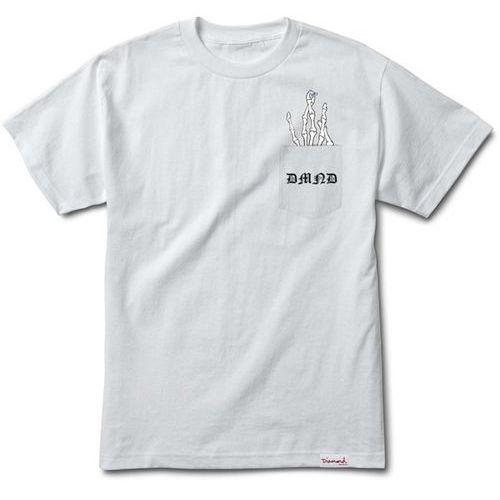 Diamond Koszulka - hand signs pocket s/s tee white (wht) rozmiar: m