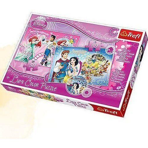 Trefl Arielka i królewna śnieżka. puzzle lumi color, 50 elementów