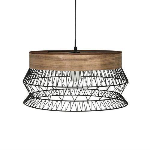 Inspire Manam-lampa wisząca metal/drewno Ø46cm