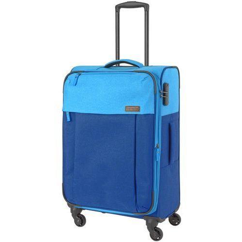 Travelite neopak walizka średnia poszerzana 67 cm / niebieska - niebieski