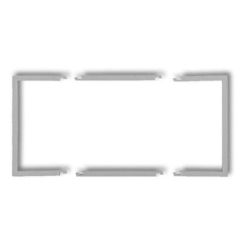 Karlik elektrotechnik sp. z o.o. Ramka wypełniająca podwójna serii deco szary mat 27drw-2