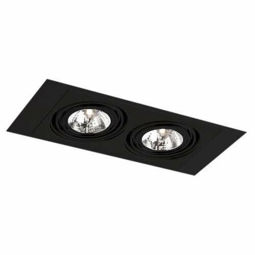 Oczko LAMPA sufitowa MUKO H 3357/G53/CZ Shilo prostokątna OPRAWA podtynkowa WPUST regulowany czarny, kolor biały;czarny