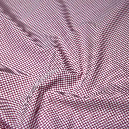 Tkanina bawełniana koszulowa - czerwona krateczka marki Ultramaszyna