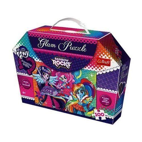 Trefl Tęczowy rock. puzzle glam, 100 elementów (5900511148084)