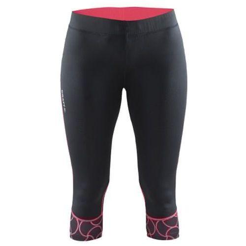CRAFT Devotion Capri - damskie spodnie 3/4 (czarny-różowy)