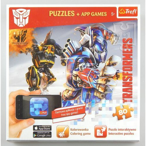 Trefl Puzzle 80 autoboty atakują - puzzle + aplikacje