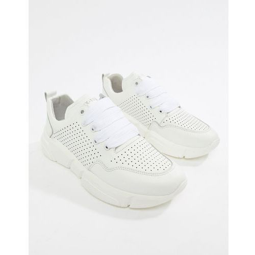 leather runner trainers - white marki Bronx