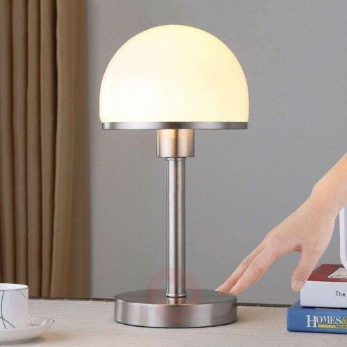 Lindby Stylowa lampa stołowa jolie ze szklanym kloszem