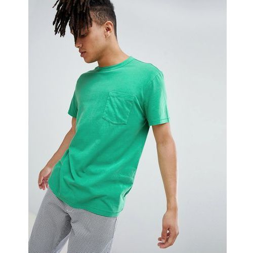 anton washed pocket t-shirt green - green marki Weekday