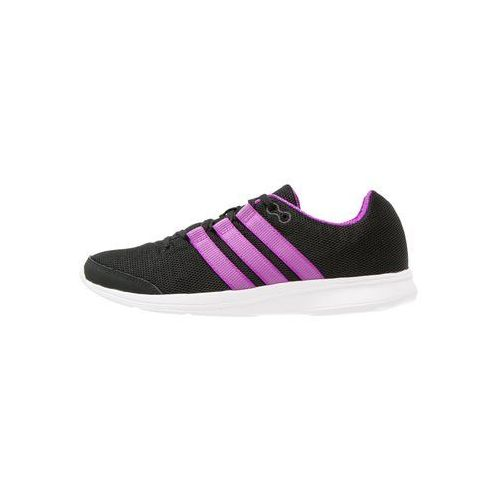 adidas Performance LITE RUNNER Obuwie do biegania startowe core black/shock purple/utility black, kolor czarny