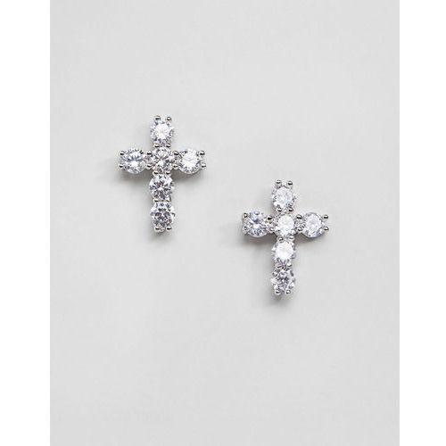Mister cross earrings in sterling silver - Silver, kolor szary