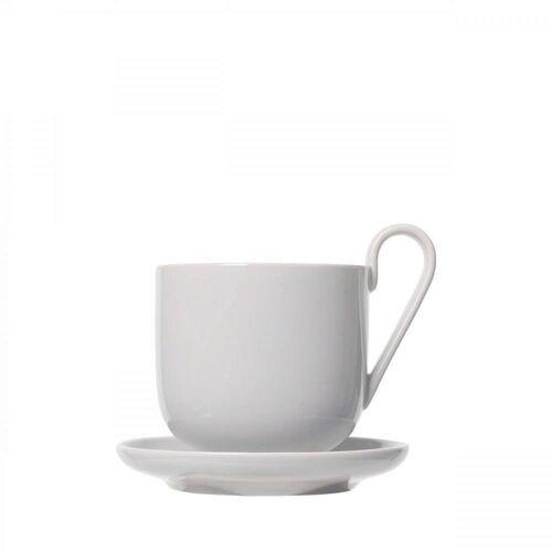 Blomus Zestaw 2 kubków do kawy z podstawkami ro, nimbus c