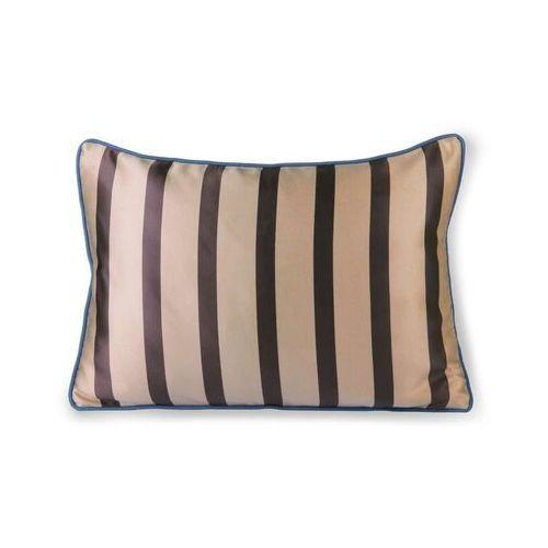 HKliving Satynowo-aksamitna poduszka brązowo/beżowa (35x50) TKU2091