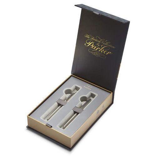 Zestaw długopis i pióro jotter stalowy ct (s1978324) marki Parker