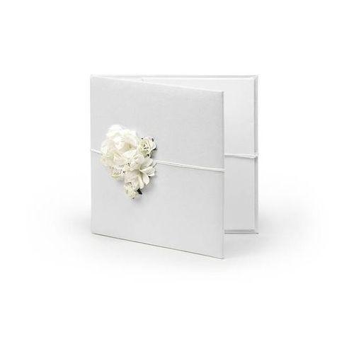 Etui na płyty CD lub DVD białe z kremowymi kwiatkami - 1 szt.
