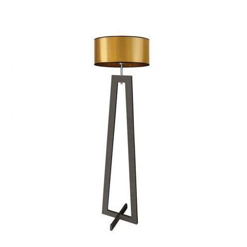 Lysne Drewniana lampa podłogowa bali mirror