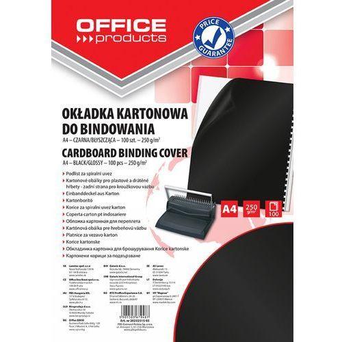 Okładki do bindowania , karton, a4, 250gsm, błyszczące, 100szt., czarne marki Office products