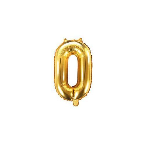 Party deco Balon foliowy cyfra 0 złota - 35 cm
