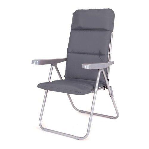 krzesło ogrodowe składane loara 68 × 58 × 107 cm, antracyt marki Happy green