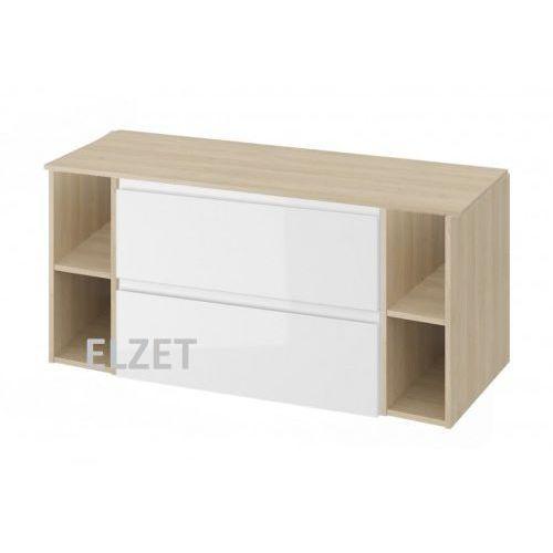 CERSANIT szafka Moduo biały połysk pod umywalkę nablatową + 2 x moduł otwarty + blat 120 S929-008+2xK116-020+S590-026, kolor biały