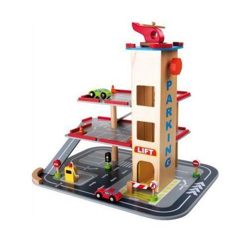 Legler Garaż drewniany do zabawy dla dzieci - piętrowy