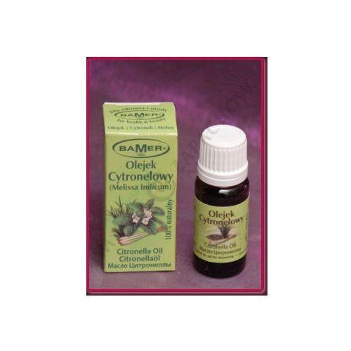 Naturalny Olejek Eteryczny Melisowo-Cytronelowy 7 ml Bamer z cytronelli i melisy lekarskiej