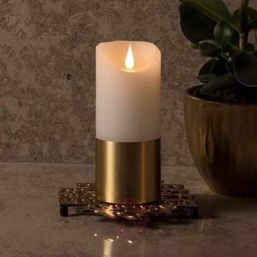 Konstsmide christmas Mosiężna opaska – świeca woskowa led 17,5 cm (7318301822607)
