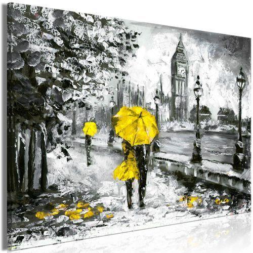 Obraz - Spacer w Londynie (1-częściowy) szeroki żółty