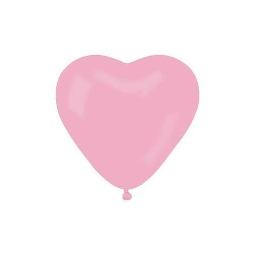 Balony lateksowe serca jasnoróżowe - 10 szt. marki Gemar