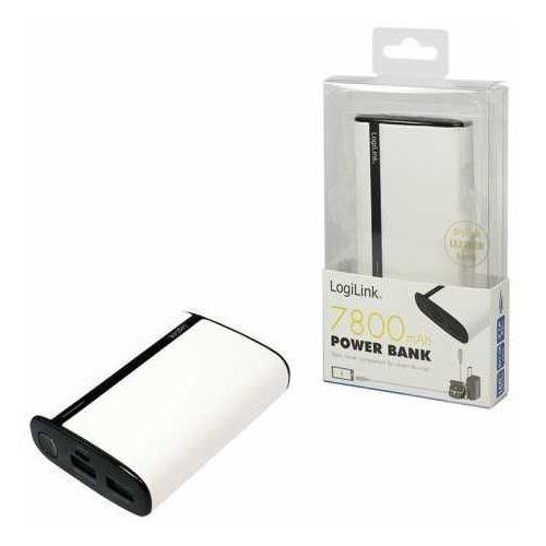 Power bank  pa0127w 7.800 mah, biały, 2 porty usb marki Logilink