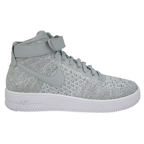 Buty  air force 1 ultra flyknit mid 817420 003 - szary marki Nike