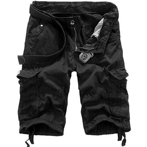 Loose Fit Straight Leg Multi-Pocket Lacing Cuffs Zipper Fly Shorts For Men - sprawdź w wybranym sklepie