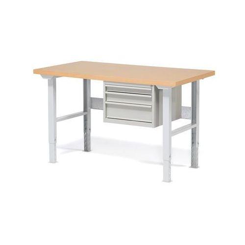 Aj produkty Stół warsztatowy robust, z regulacją wysokości, 3 szuflady, 800x1500 mm