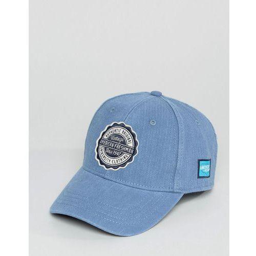 River island  baseball cap with vintage logo in light blue - blue