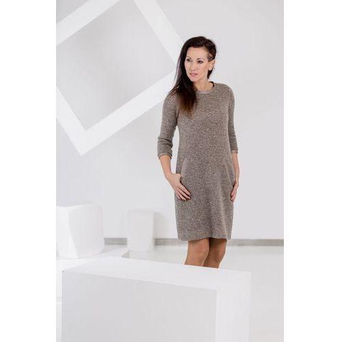 Sukienka Coffee Skin, kolor beżowy