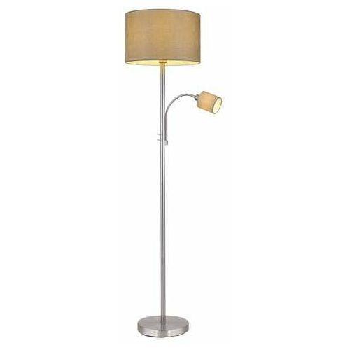 Globo paco 15185s4 lampa stojąca podłogowa 1x25w e14 nikiel/szary