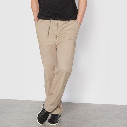 Spodnie na gumce z wieloma kieszeniami