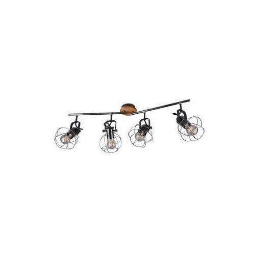 Trio Madras 805300488 plafon lampa sufitowa 4x28W E27 brązowy / czarny (4017807445213)