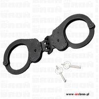 Alcyon  kajdanki policyjne 3-zawiasowe profesjonalne czarne 5233