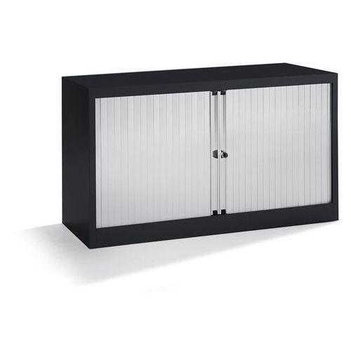 Bisley Szafka z roletami euro, szer. 1200 mm, 1 półka, czarny / jasnoszary. komplet z p
