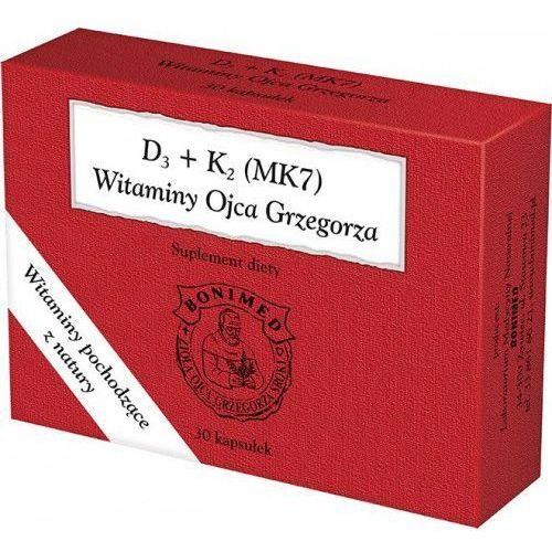 Witamina D3 + K2 (MK7) Ojca Grzegorza 30kaps. BONIMED