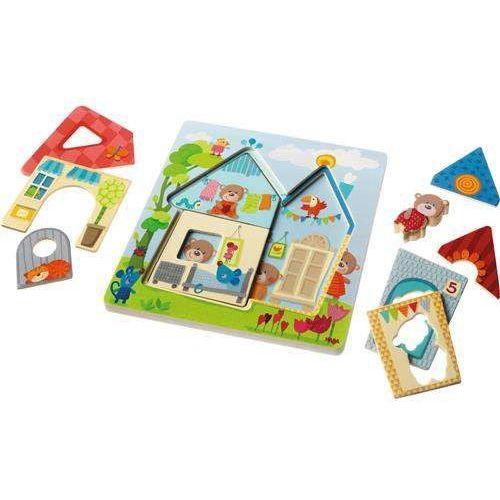 Drewniane Puzzle Domek Misia