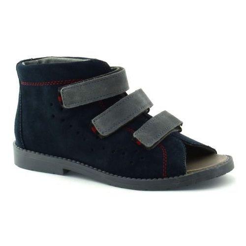 Granatowe dziecięce buty profilaktyczne 1043 marki Dawid